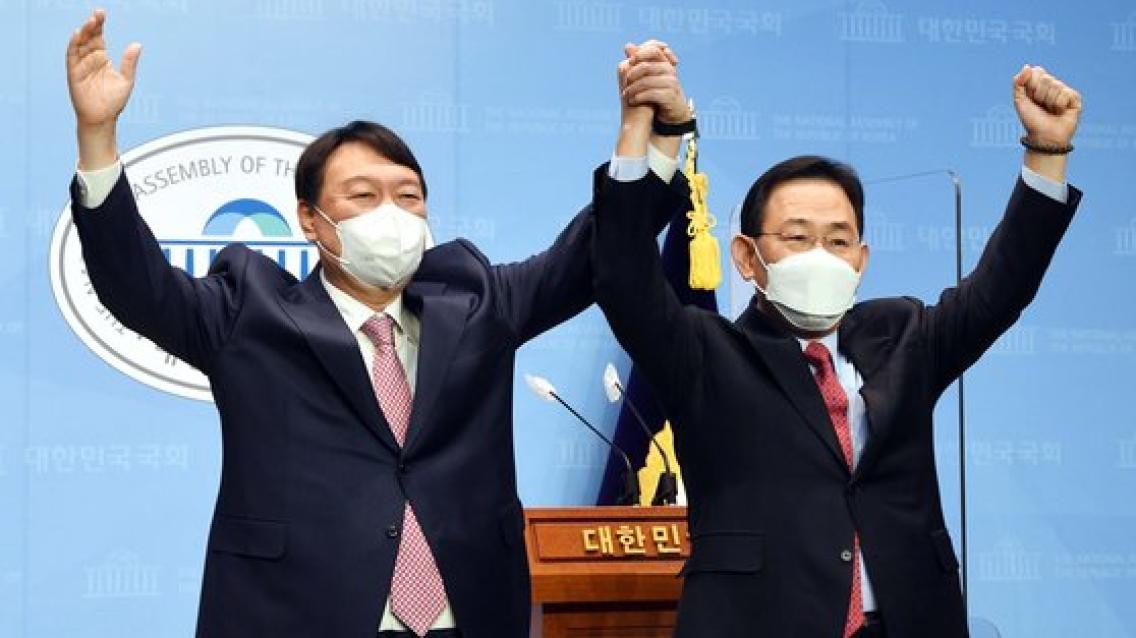 최재형 洪과 공식 손 잡은 날 주호영, 尹캠프 선대위장 합류