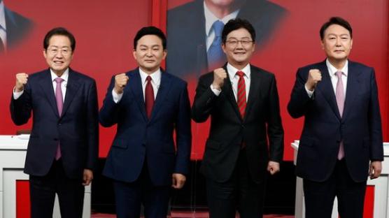 李 35% 尹 34%, 李 35% 洪 32%···원희룡 22%로 부상